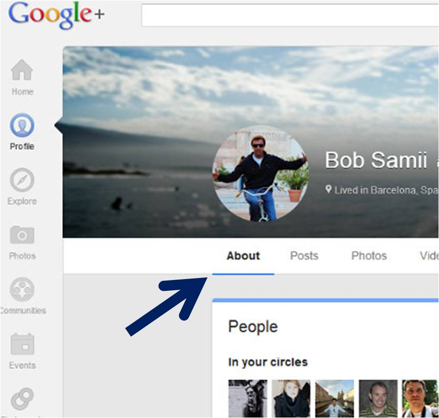 Google Plus Profile About